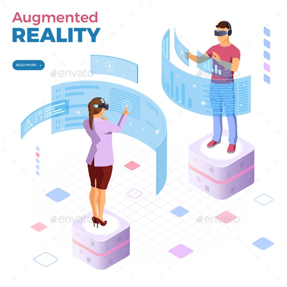 Isometric Virtual Augmented Reality - Computers Technology