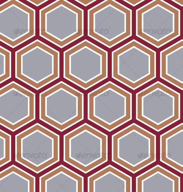 Retro Honeycomb Pattern - Patterns Decorative
