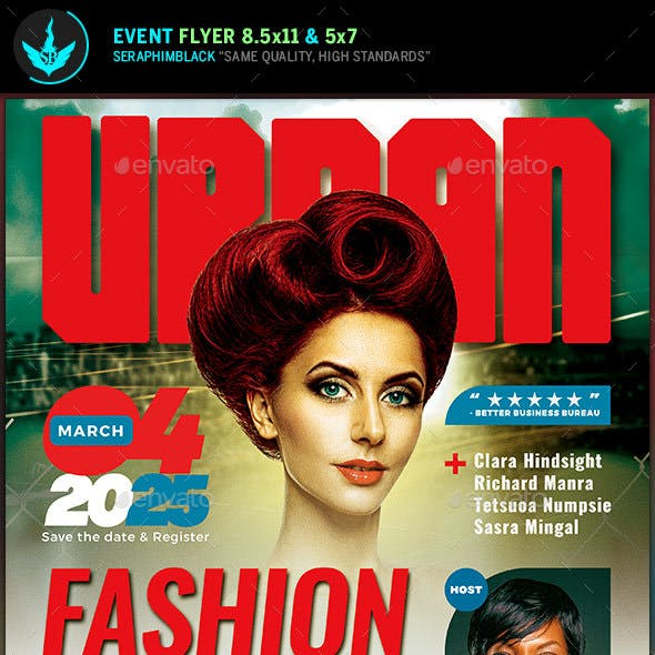 Urban Fashion Conference Flyer Template