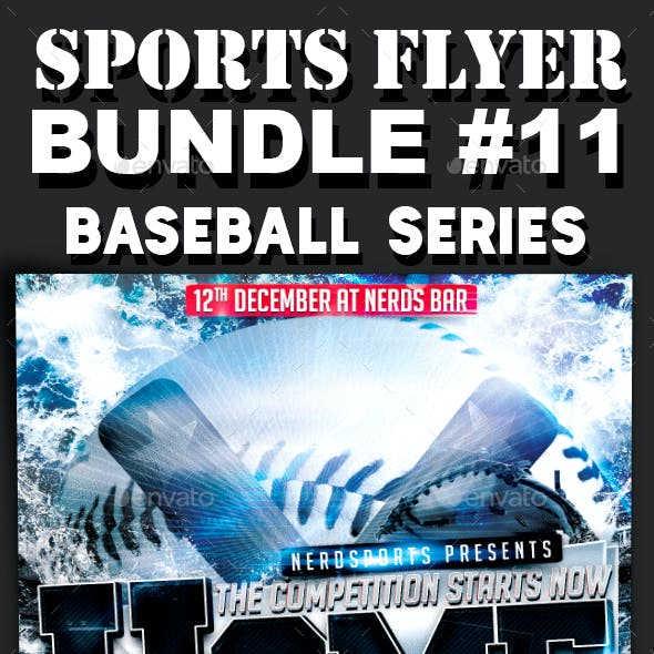 Sports Flyer Bundle 11 Baseball Series