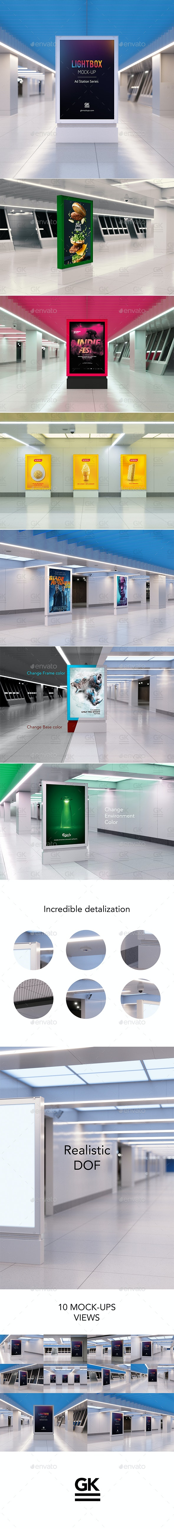 Lightbox Mock-up - Ad Station Series - Posters Print