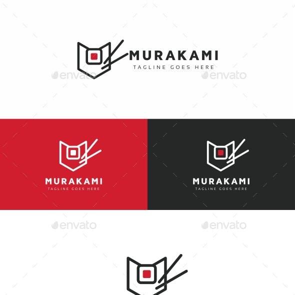 Murakami - Asian Food M Letter Logo