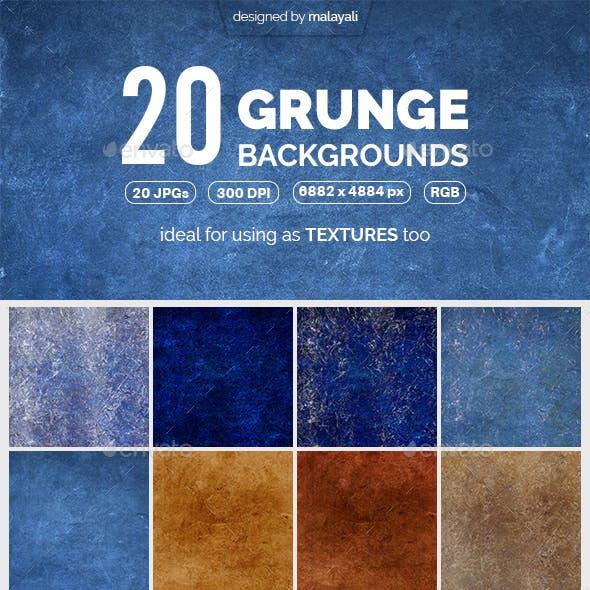 20 Grunge Backgrounds