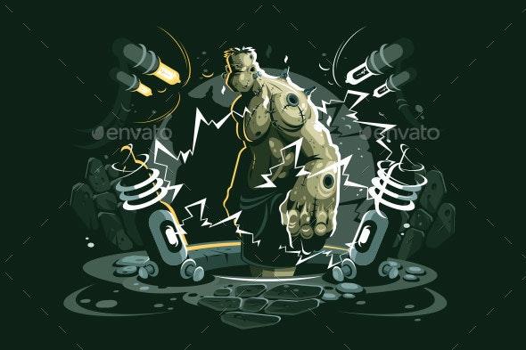 Frankenstein Cartoon Character - Monsters Characters