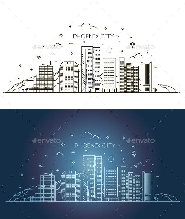 Phoenix Skyline - Buildings Objects
