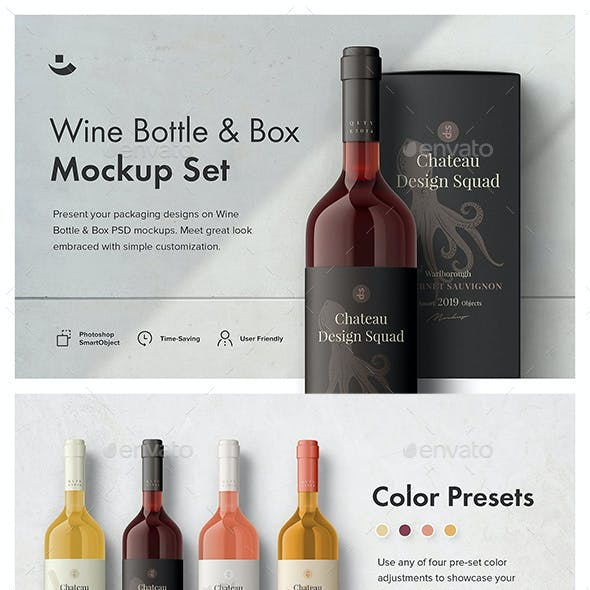 Essential Wine Bottle Mockup Set