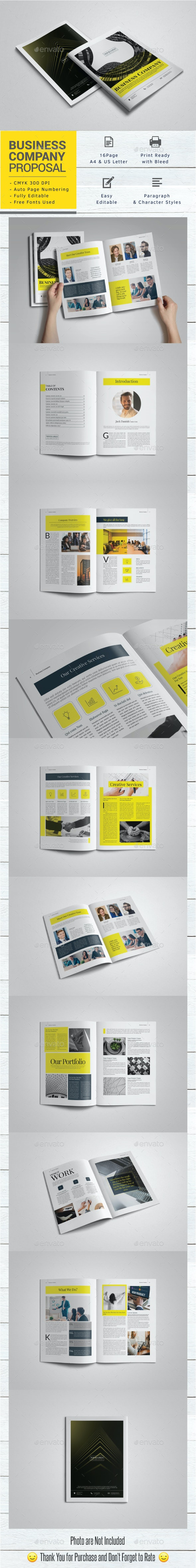 Business Company Proposal - Brochures Print Templates