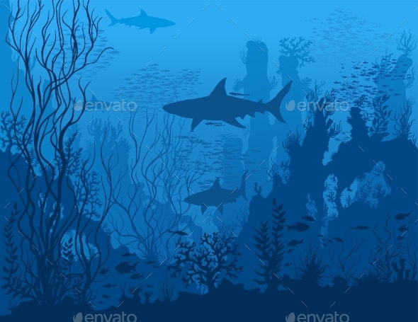 Blue Underwater Landscape - Landscapes Nature