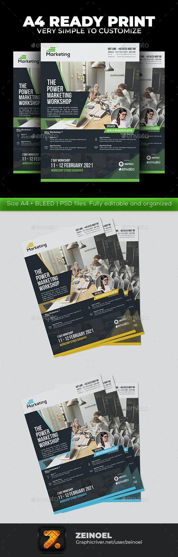 Marketing Workshop Flyer v2 - Corporate Flyers
