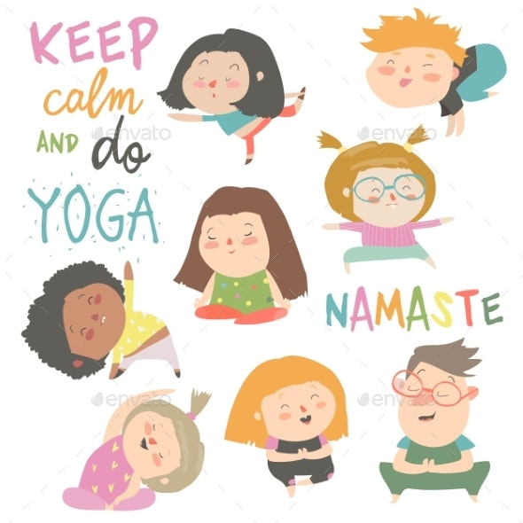 Yoga Kids Set - Sports/Activity Conceptual