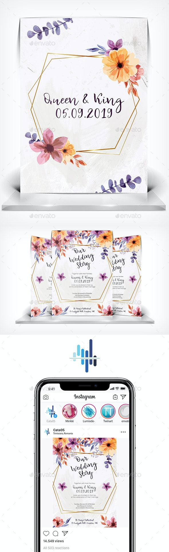 Our Wedding Story - Wedding Greeting Cards