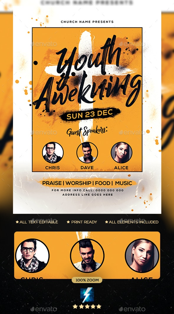 Church Flyer Flyer - Clubs & Parties Events