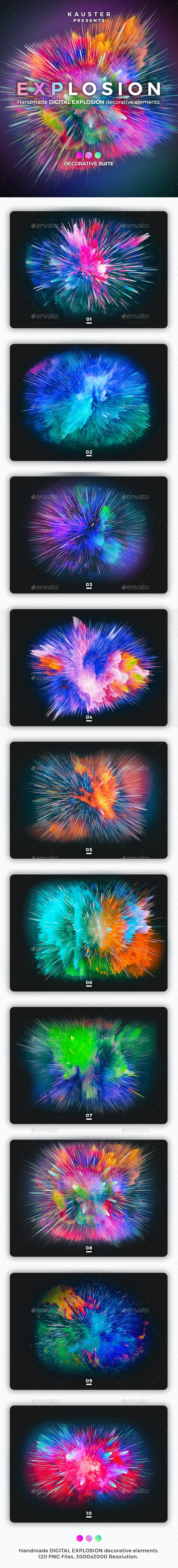 Digital Explosion Decorative Suite - Decorative Symbols Decorative