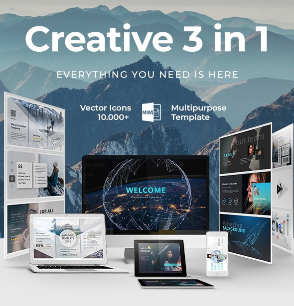 Creative 3 in 1 Bundle Google Slide Template - Google Slides Presentation Templates