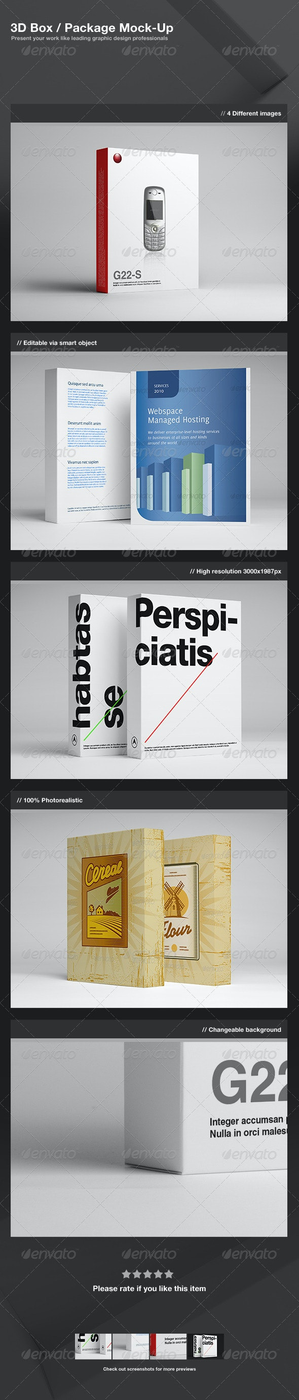 3D Box / Package Mock-Up - Miscellaneous Packaging