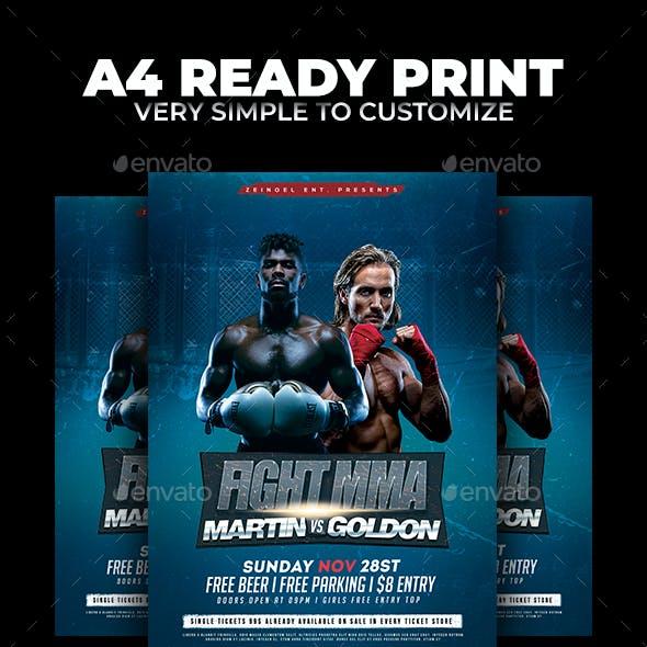 Fight MMA Flyer