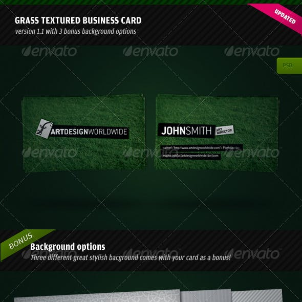 Green Textured Business Card