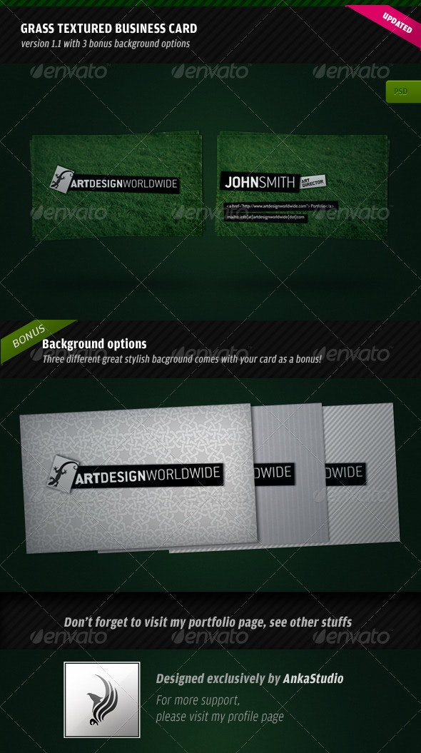 Green Textured Business Card - Creative Business Cards