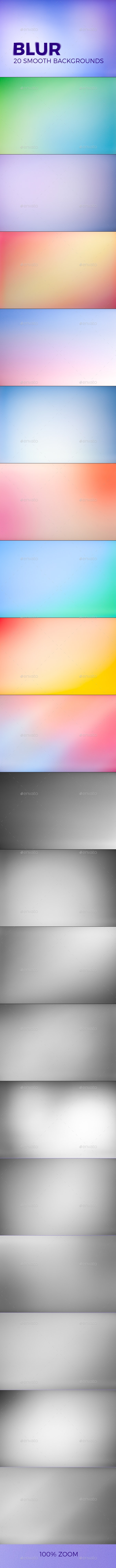 BLUR – 20 Smooth Backgrounds - Backgrounds Graphics