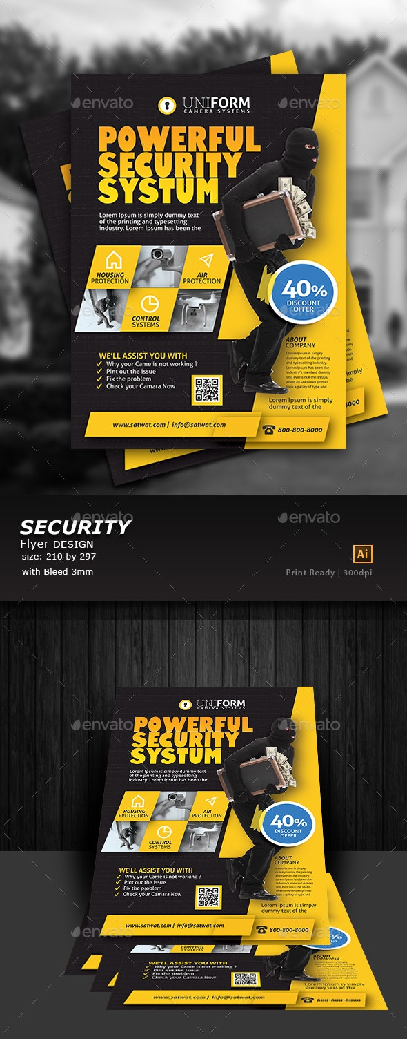Security Systems Flyer Template - Flyers Print Templates