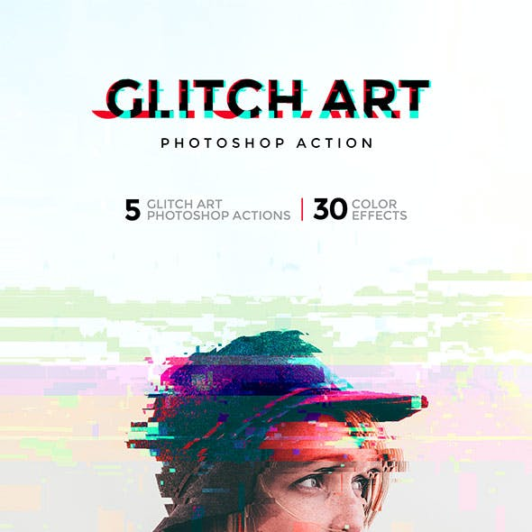 Glitch Art Photoshop Action
