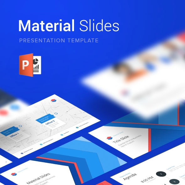 Material PowerPoint Presentation Template - Business PowerPoint Templates