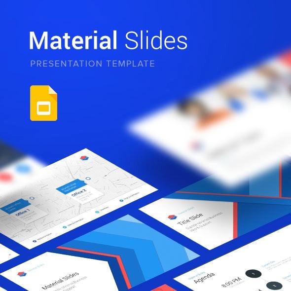 Material Google Slides Presentation Template - Google Slides Presentation Templates