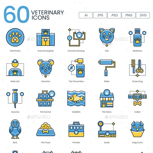 Veterinary Icons - Kinetic Series