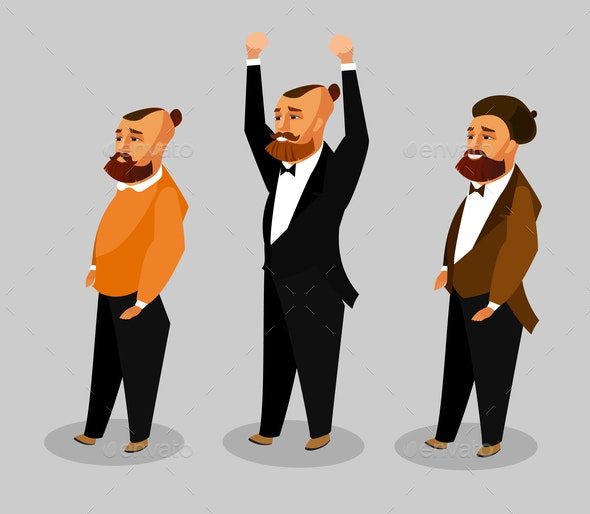 Men of Different Occupation Vector Clipart Set - People Characters