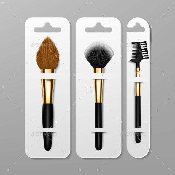 Makeup Brush Packaging Design Vector - Miscellaneous Vectors