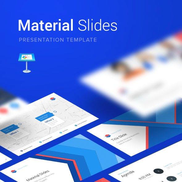 Material Keynote Presentation Template