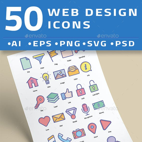 50 Web Design Icons