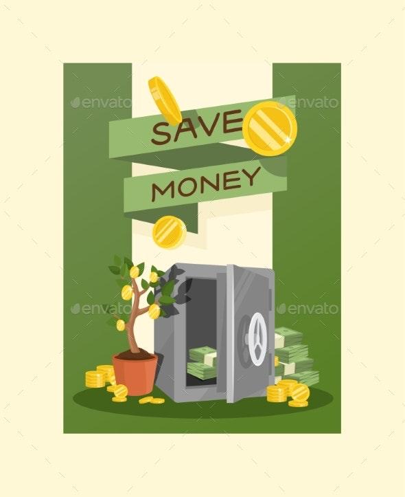 Money Vector Piggy Bank Pig Box Financial Bank - Miscellaneous Conceptual
