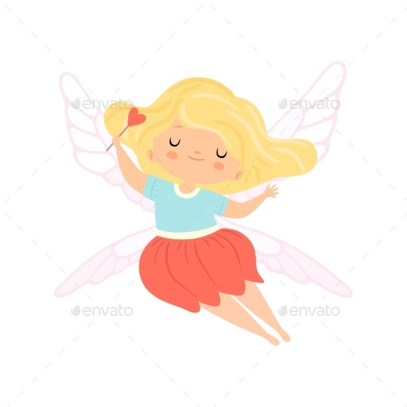 Winged Fairy with Blonde Hair - People Characters