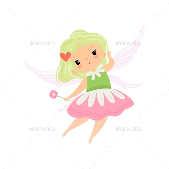 Winged Fairy Girl Character - People Characters