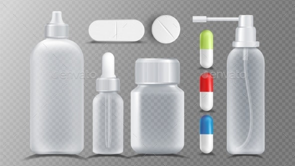 Transparent Medical Container Vector - Health/Medicine Conceptual
