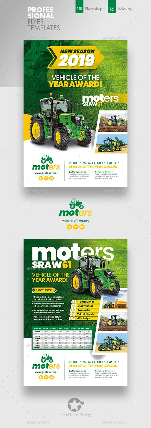Vehichle Mower Flyer Templates - Corporate Flyers