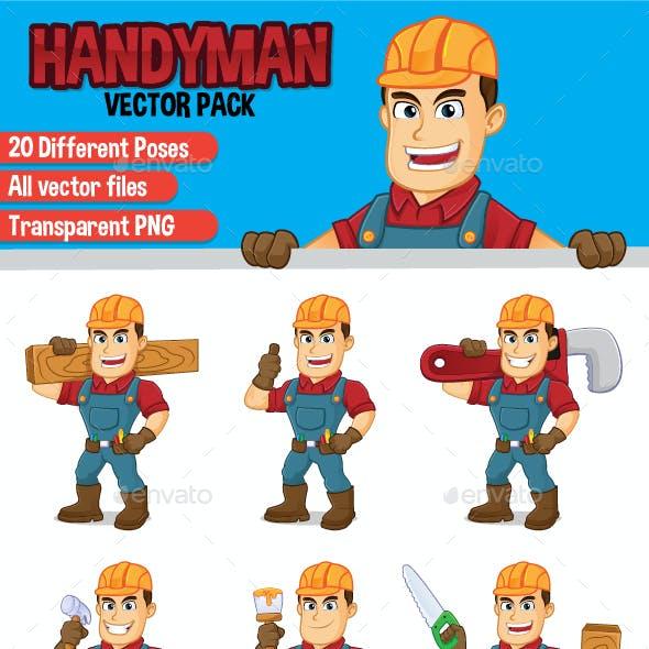 Handyman Vector Set