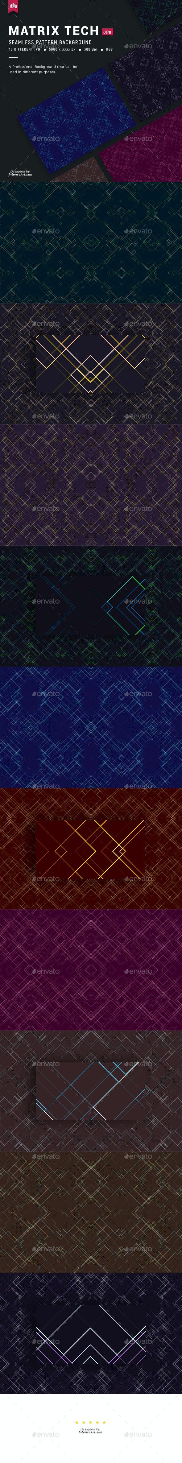 Matrix Tech Seamless Pattern Background - Patterns Backgrounds
