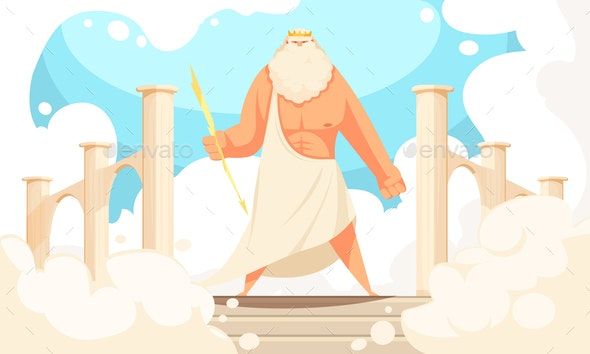Ancient God Zeus - Religion Conceptual