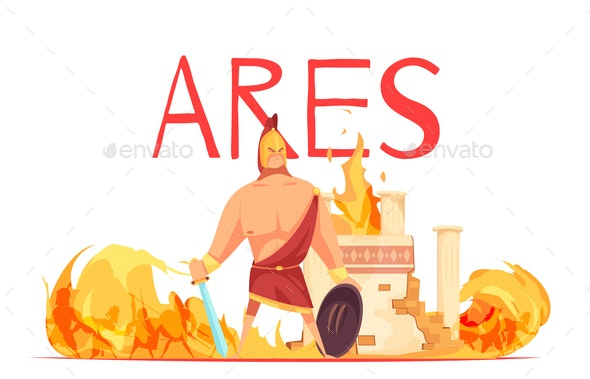 Ancient Greece God Ares - Religion Conceptual