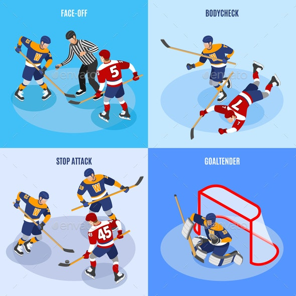 Hockey Isometric Concept - Sports/Activity Conceptual