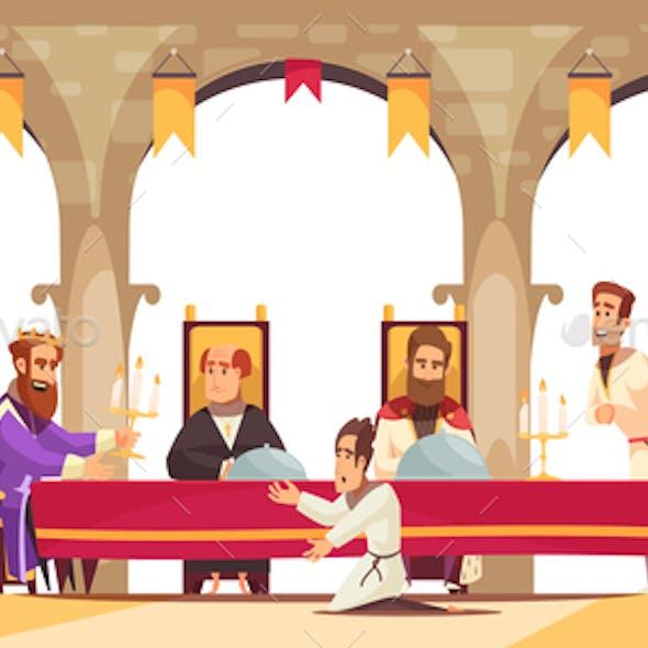 Castle Cartoon Poster