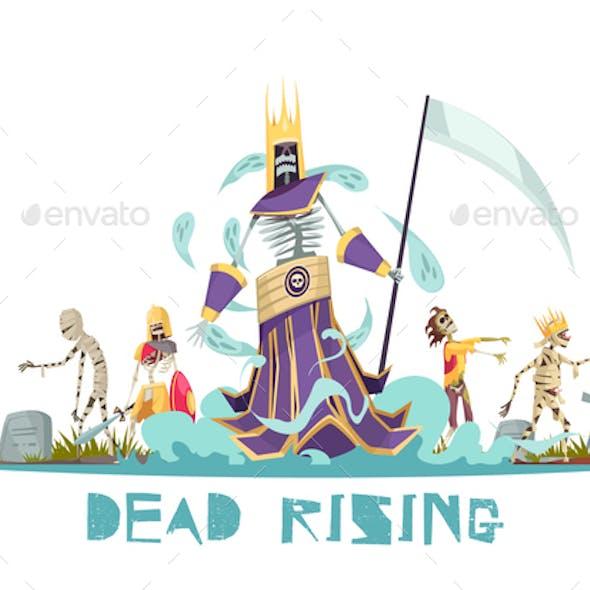 Dead Rising Vector Illustration