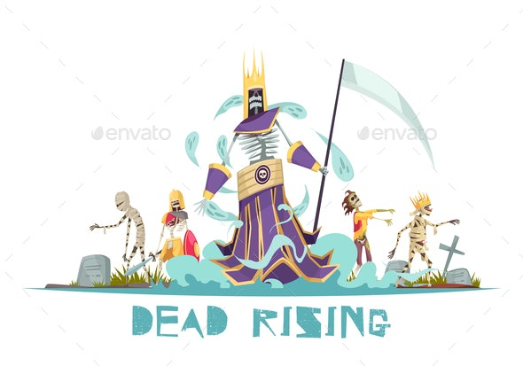 Dead Rising Vector Illustration - Monsters Characters