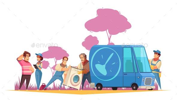 Plumber Vector Illustration - Industries Business