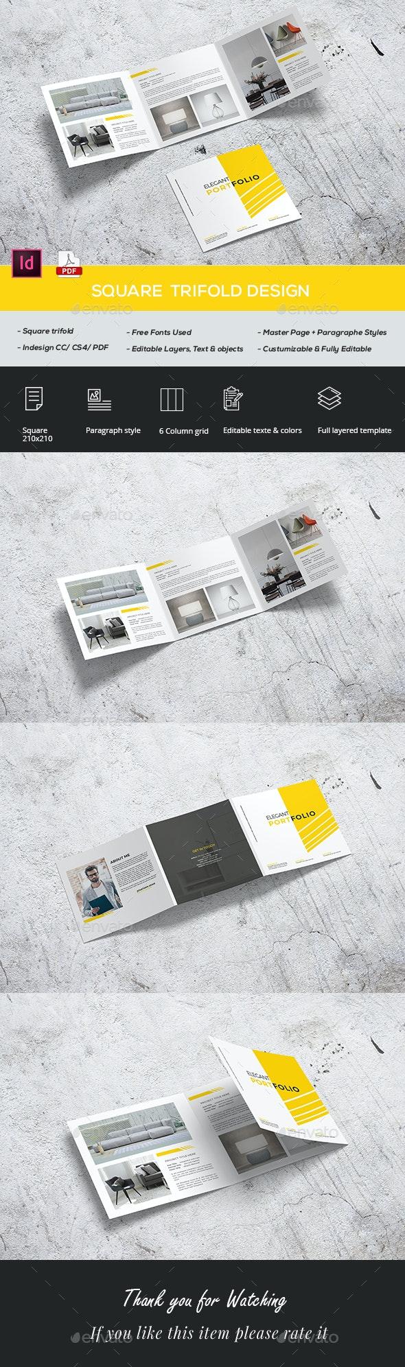 Square Trifold Portfolio - Portfolio Brochures