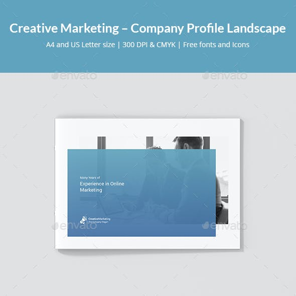 Creative Marketing – Company Profile Landscape