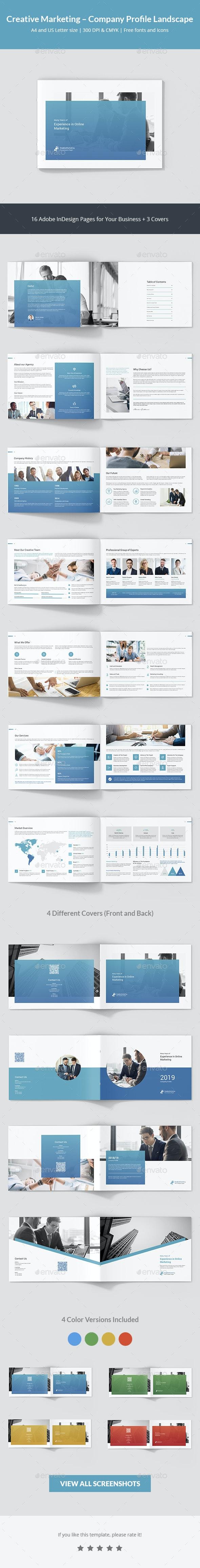 Creative Marketing – Company Profile Landscape - Corporate Brochures