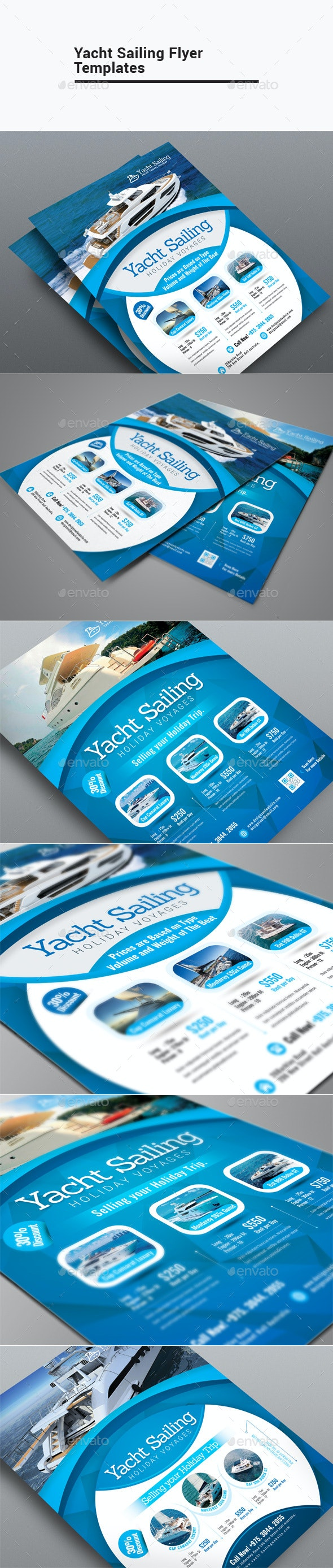 Yacht Sailing Flyer Templates - Corporate Flyers